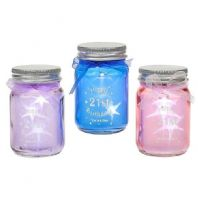 HAPPY 21st LED LIGHT UP MINI JAR FIREFLY. GREAT GIFT FOR FRIENDS...